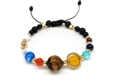 BOEYCJR 9 Planets Pluto Universe Bangles & Bracelets Fashion Jewelry Galaxy Solar System Bracelet For Women or Men