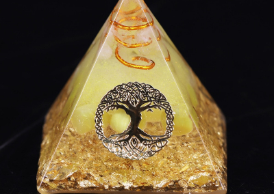 Orgonite Pyramid Tree Of Life Energy The Lucky Ceregat Pyramid Energy Converter To Gather Wealth And Prosperity Resin Decor