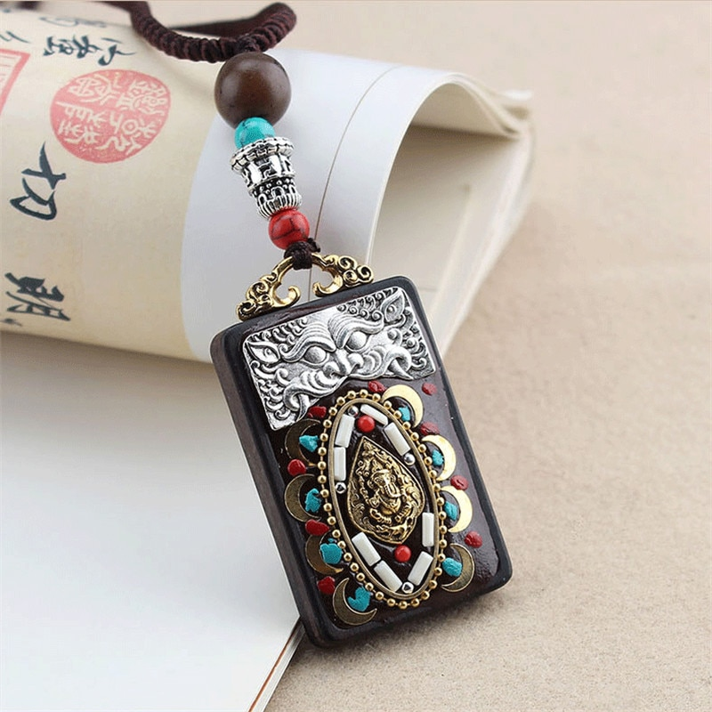 2020 New Vintage Ethnic Style Buddha Elephant Pendants & Necklaces Statement Nepal Necklace Women Men Jewelry