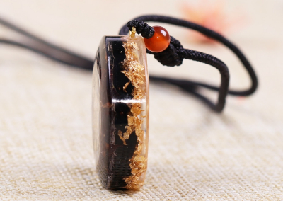 Orgonite Manifest Abundance Wealth Luck Pendant Orgone Jewelry Necklace Chakra Energy Healing Crystals Chakra Necklace